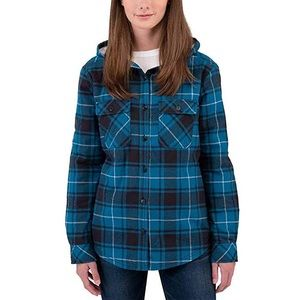 Turquoise/ Blue Sherpa Lined Flannel Top/Jacket
